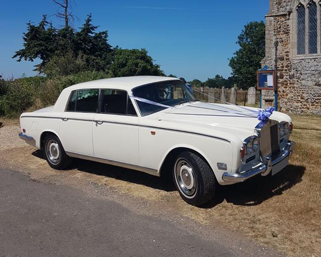 1974 Classic white Rolls Royce Silver Shadow